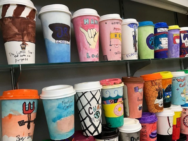 Mrs. Dincher's Commercial Art Coffee Cup Designs