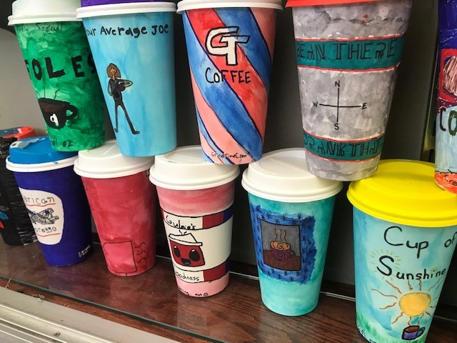 Mrs. Dincher's Commercial Art Coffee Cup Design