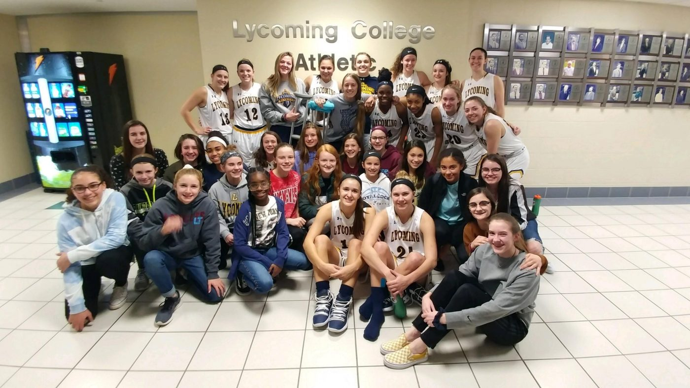 7th & 8th Grade Girls BB Team Meet & Greet with Lycoming College Girls BB